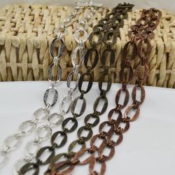 catena con fantasia anticato forma ovale 14 x 21 mm 1mt per orecchini collane e bracciali fai da te