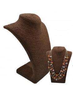 Collo per collana Espositore porta collana busto paglia colore marrone vetrina Gioielli Bigiotteria