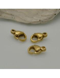 3 pz Chiusura Moschettone Acciaio dorato 6 x 9 mm per fai da te