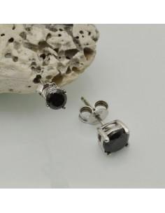 orecchini punto luce argento 925 orecchini donna ZIRCONE nero