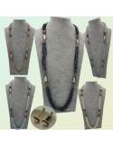 collana donne multifilo con perle di fiume marcasite cristalli swarovski ottima idea regalo!!!