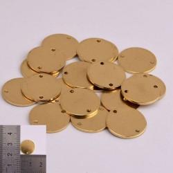 2 pz ciondoli da incidere in ottone rotondo 14 mm con due fori per le tue creazioni