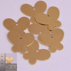 2 pz ciondoli forma farfalla da incidere in ottone con foro 21 x 18 mm per le tue creazioni