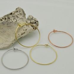 orecchini a cerchio sottili 25 mm CON FILO 0.8 MM IN ARGENTO 925 per le tue gioielli