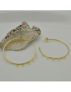ORECCHINI CERCHIO IN argento 925 placato oro 4 ANELLI PER CIONDOLI 45 MM per le tue creazioni!!!