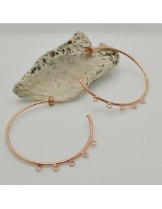 ORECCHINI CERCHIO IN argento 925 placato oro rosa 4 ANELLI PER CIONDOLI 45 MM per le tue creazioni