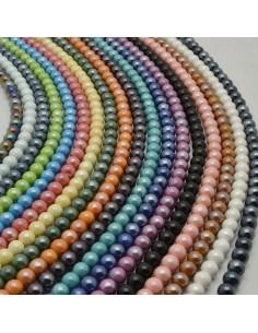 47 pz perla in ceramica smaltata 8mm per bijoux collana braccia orecchini