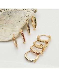 CERCHIETTI con strass base anelle oro orecchini cerchio tonde chiuse 14 mm per le tue creazioni!!!