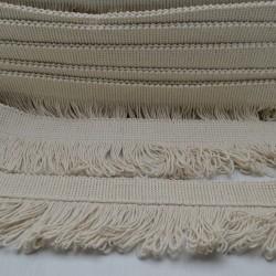 1 mt PASSAMANERIA A FRANGIA 7 CM col corda per borse e cucito Ottima Qualità