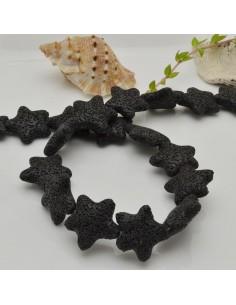 filo stelle di lava colore nero 26 mm 18 pz per gioielli per le tue creazioni
