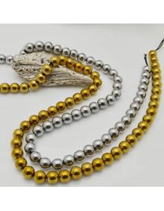 pietre e matite rotonda lisci 8 mm per bigiotteria circa 40cm per le tue creazioni