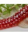 FILO cristallo cinese mezzi cristalli cipollotti 6 x 8 MM colore rosso rubino AB 65 - 70 pz per le tue creazioni