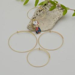 base orecchini a cerchio in acciaio sottili base orecchini varia misura per le tue creazioni