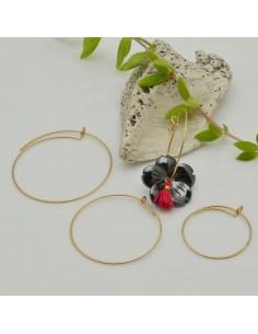 base orecchini a cerchio in acciaio oro opaco sottili base orecchini varia misura per le tue creazioni