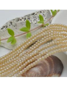 filo cristalli 2 x 3 mm colore beige Rondelle sfaccettato e briolette 200 pz per le tue creazioni