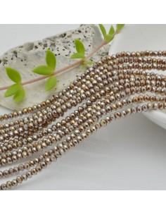 filo cristalli 2 x 3 mm colore cammello metallic Rondelle sfaccettato e briolette 200 pz per le tue creazioni
