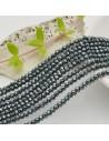 filo cristalli 2 x 3 mm colore petrolio scuro Rondelle sfaccettato e briolette 200 pz per le tue creazioni