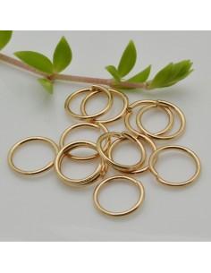 10 pz Anellini aperti in Acciaio Oro filo 1 mm misura 10 mm per bigiotteria
