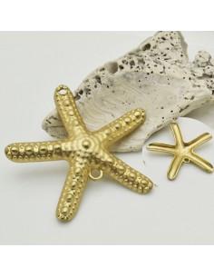 charm zama stella marino oro 48 x 50 mm 2 fori per ciondoli 1 pz tuoi gioielli alla moda