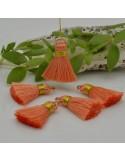 nappine ciondolo nappa Charms in seta col arancione oro 22 mm per decorare 2 pz per fa da te
