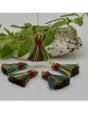 nappine ciondolo nappa Charms in seta col bordò mix 22 mm per decorare 2 pz per fa da te