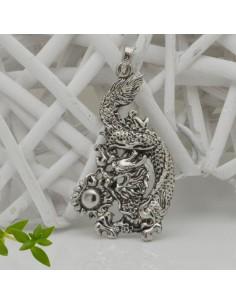 CIONDOLI forma drago col argento 45 x 75 MM in metallo confezione 1 pz