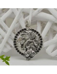 CIONDOLI forma drago col argento 40 x 55 mm in metallo per le tue creazioni