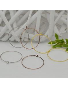 orecchini a cerchio 30 mm sottili con chiodo in ottone 2 paia per le tue creazioni