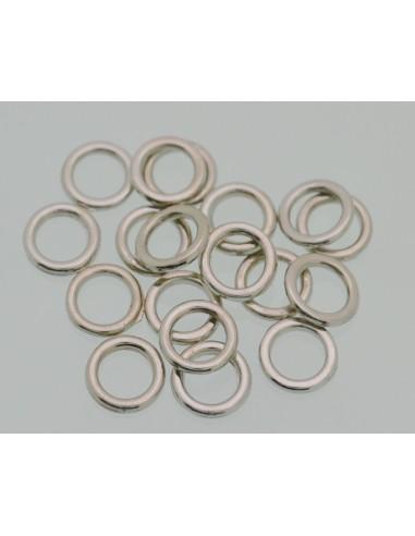 Anellini in metallo chiusi misura 6mm 8mm per bigiotteria