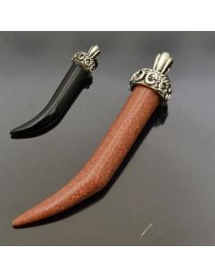 Pietra dura a forma di cornetto portafortuna 57 mm 1 Pz.