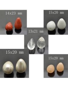 perle gocce Pietre dura liscia sfaccettata 2 pz per orecchini collana pendente per tue creazioni