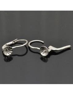 Monachelle chiuse 15 mm con piatto e perno 5 mm in argento 925%