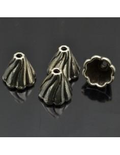 Copri perle in metallo 13x13 mm 4 pz
