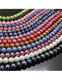 perla in ceramica 17.5-19MM smaltata per bijoux collana braccia orecchini