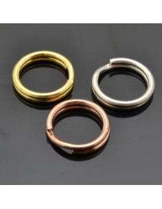 Anelle brisè da 5 mm da 10pz in argento 925%