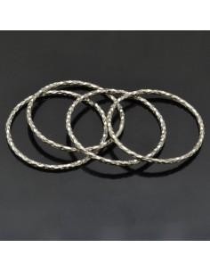 Anelle chiuse da 24 mm da 4pz in argento 925%