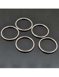 Anelle chiuse da 12 mm da 22pz in argento 925%