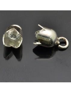 Capi cordoncino con gancio 13x7 mm per bracciali e collane 2pz in argento 925%
