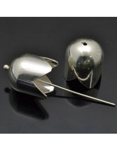 Capi corda da 14x12 mm 2pz in argento 925%