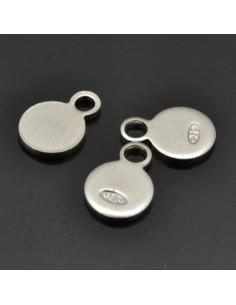 Ciondolini lisci 4x6 mm 5pz in argento 925%