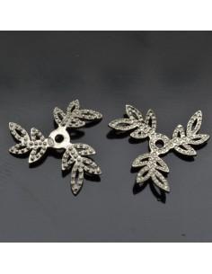 Copri perla 15x17 mm 6pz in argento 925%