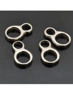 Anella 8 11x7 mm 10pz in argento 925%