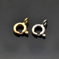 Moschettoni tondi 9x7 mm da 1 pezzo in argento 925%