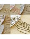 catena groumette a palline ovali in ottone anelli saldati ogni 3 cm pallina da 3x5 mm 1mt
