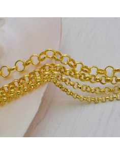 Catena rolò in ottone anelli saldati 2.0mm 2.5mm 3.0mm 4mm oro per bigiotteria