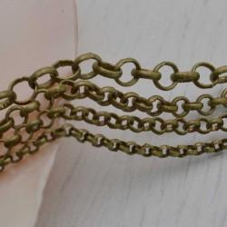 Catena rolò in ottone anelli saldati 2.0mm 2.5mm 3.0mm 4mm bronzo per bigiotteria