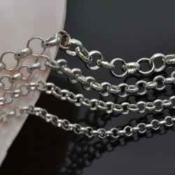 Catena rolò in ottone anelli saldati 2.0mm 2.5mm 3.0mm 4mm argento rodiato per bigiotteria