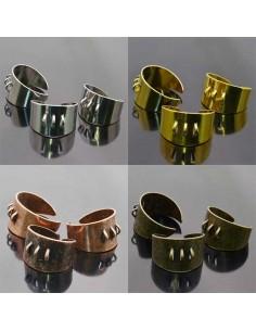 Base anello con 3 anelli Anello regolabile fascia 13mm da decorare 2pz