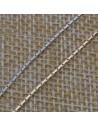 Catena argento piatta cobra 9 mm in argento 925%per 10 cm