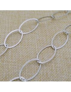 Catena Rolo anelle ovali piatte 29x15 mm in argento 925% per 50 cm